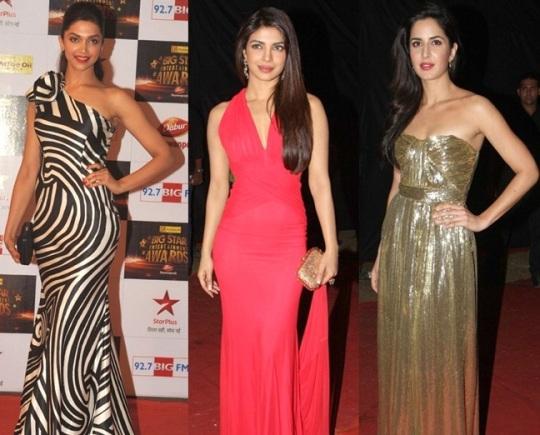 Deepika Padukone, Priyanka Chopra and Katrina Kaif