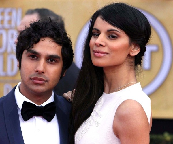 photo: aceshowbiz.com Kunal Nayyar with his lovely wife Miss India 2006 Nayyar Kapur